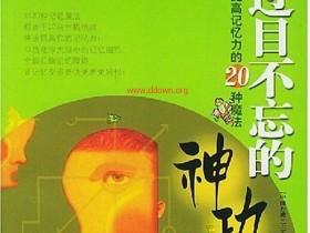 过目不忘的神功:提高记忆力的20种魔法 PDF电子书