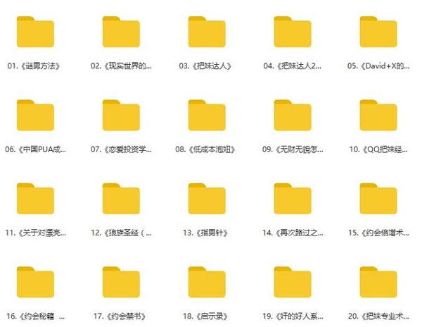 恋爱秘籍《泡妞教程电子书》2.13G合集百度网盘下载